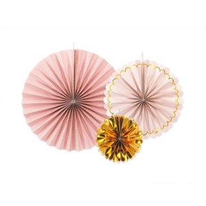 Dekorative Rosetter Rosa og Gull