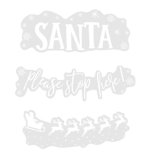 Santa Stop Here Vindusklister