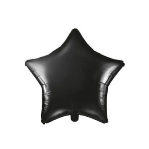 Stjerneballong Sort 48cm