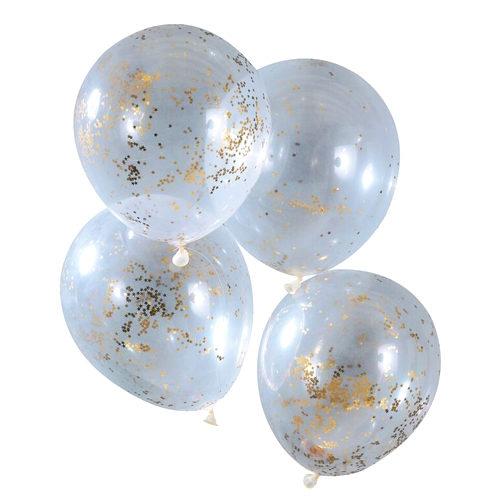 Gull Glitter Stjernekonfetti Ballong