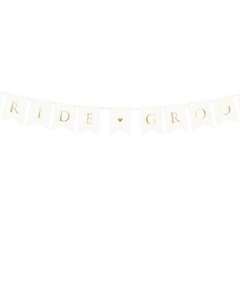Bride Groom Hvit Vimpelrekke