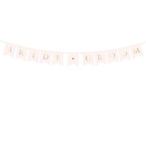 Bride Groom Rosa Vimpelrekke