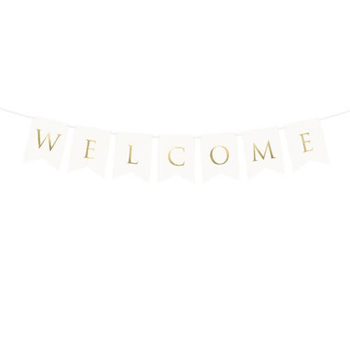 Welcome Banner Hvit