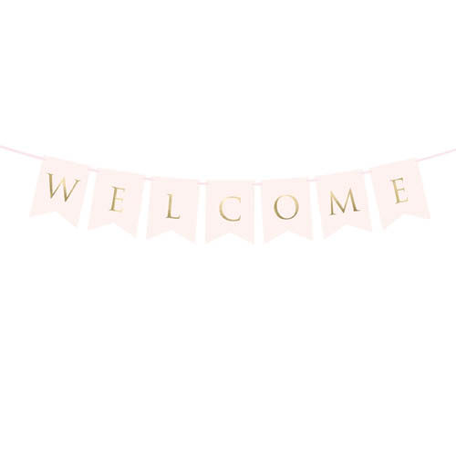 Welcome Banner Rosa