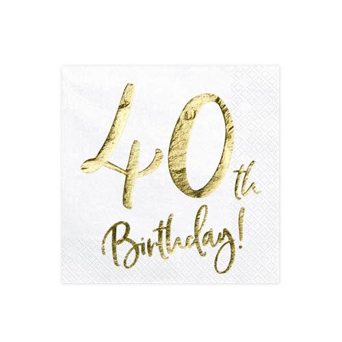 Servietter 40th Birthday