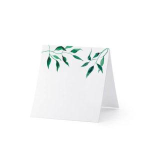 Bordkort med blader