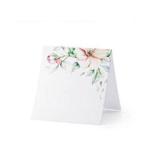 Bordkort med blomstermotiv