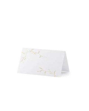 Bordkort med gullblader