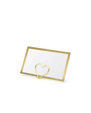 Bordkort med gullramme