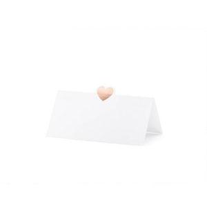 Bordkort med Rosegullhjerte
