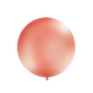 Gigantisk Rund Ballong Rose Gold