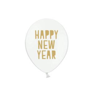 Happy New Year Ballonger Hvit