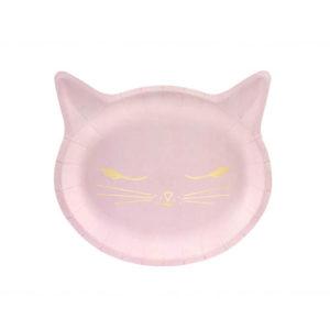 Rosa Kitty Tallerkener