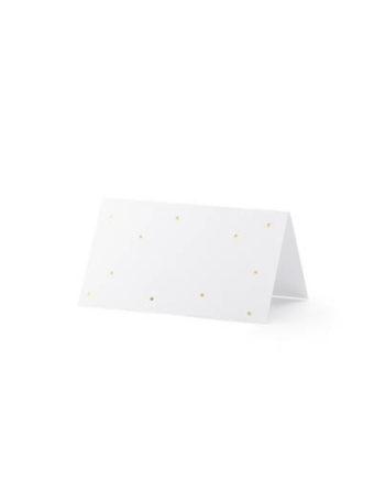 Bordkort med gullprikker