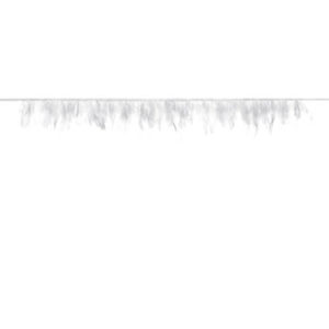 Dekorativ Hvit Fjærgirlander
