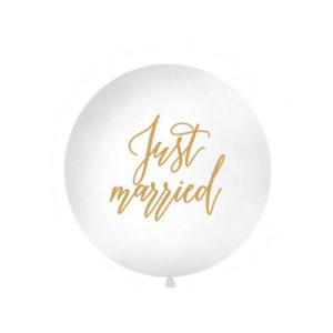 Gigantisk Just Married ballong