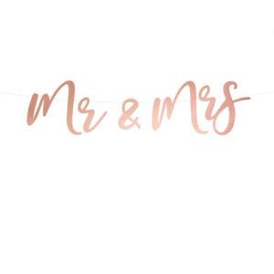 Rose Gold Mr & Mrs Banner