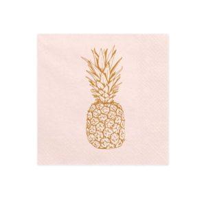 Peach Servietter Ananas