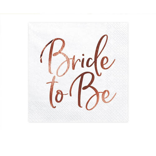Bride to Be Servietter Rose Gold