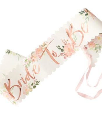 Bride to Be Sash Floral
