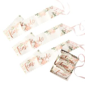 Team Bride Sash Floral
