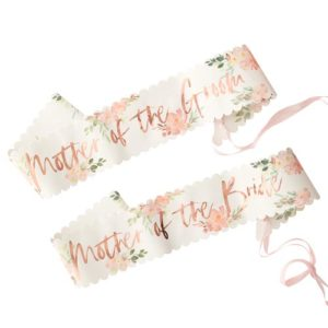 Mother of The Bride Groom Floral Sash