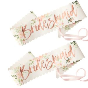 Floral Bridesmaid Sash