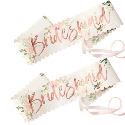 Floral Bridesmaid Sash