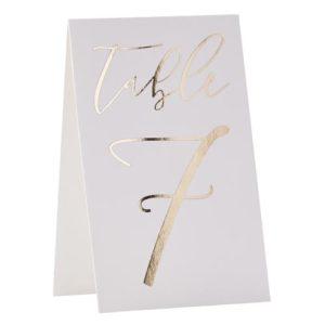 Bordkort 1 - 12 Gull