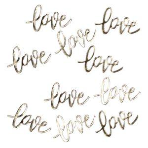 Bordkonfetti Love i Gull
