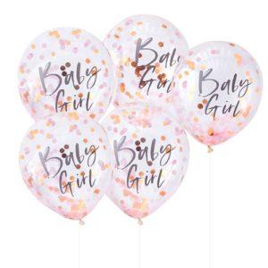 Baby Girl Confettiballonger
