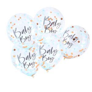 Baby Boy Confettiballonger