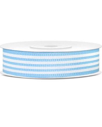 Dekorbånd med hvit og blå striper
