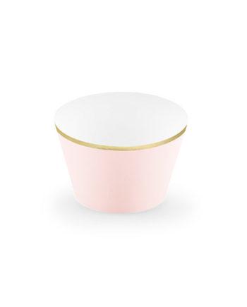 Cupcake Wrappers dus rosa og gull