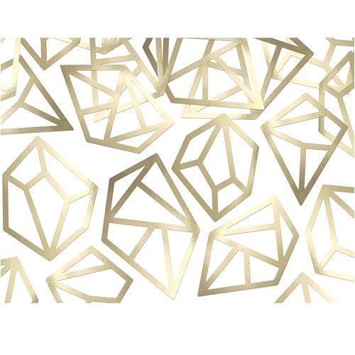 Diamant konfetti i gull