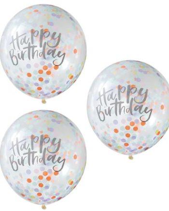 Konfettiballonger Happy Birthday