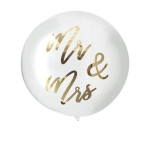 Gigantisk gjennomsiktig Mr & Mrs Ballong
