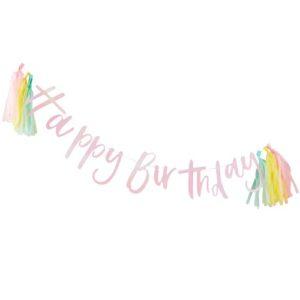 Happy Birthday Bunting Iridescent