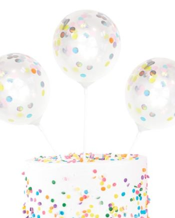Mini Cake topper konfettiballonger
