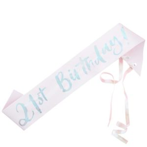 21th Birthday Sash