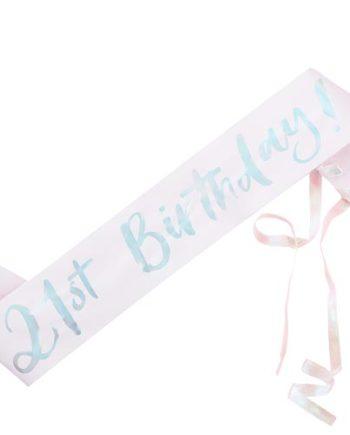 21th Birthday Sash