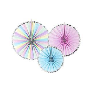 Dekorative Rosetter Pastell