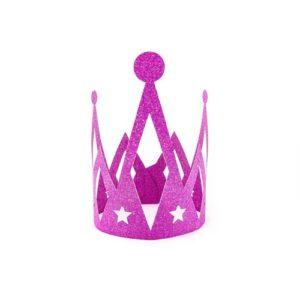 Prinsessekrone Rosa Glitter
