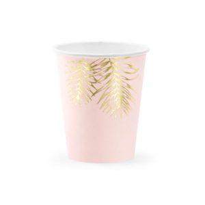 Rosa kopper med gullblader