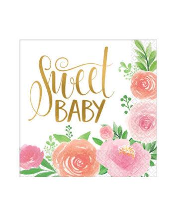 Sweet Baby Servietter babyshower pynt