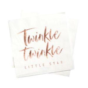 Twinkle Twinkle Servietter Rose Gold