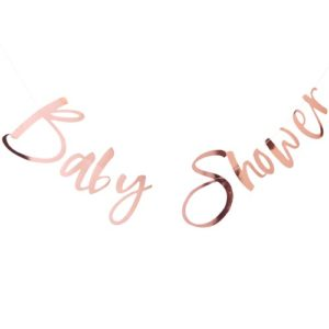Baby Shower Bunting Rose Gold
