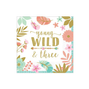 Young Wild & Three Servietter