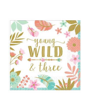 Young Wild & Three Servietter