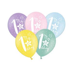 Pastellballonger 1års dag